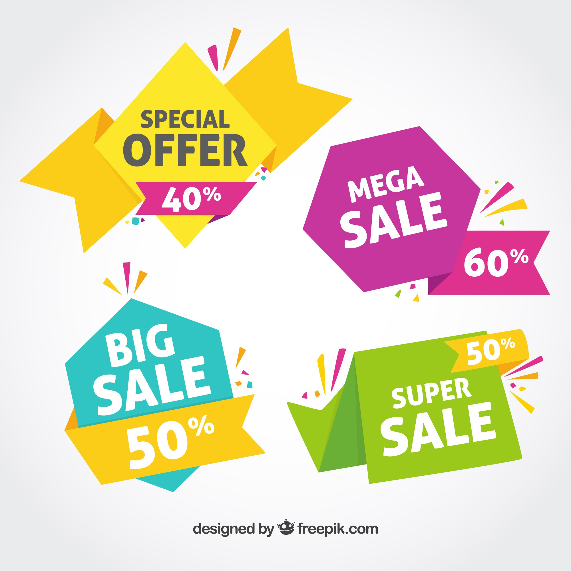 Colorful sales banner