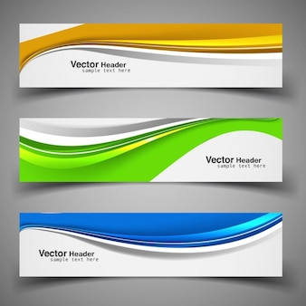 Colorful shapes banners collection