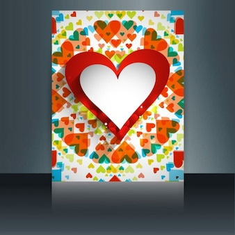 Colorful shiny card of valentine