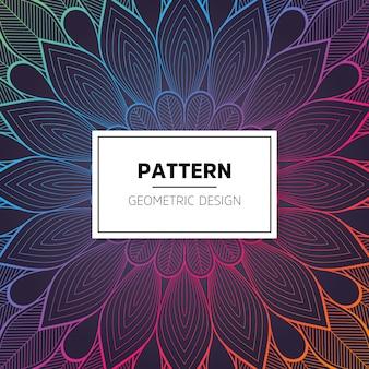 Colorful shiny flower pattern