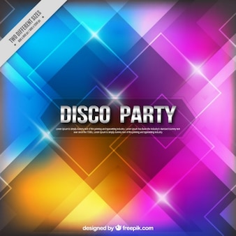 Colorful shiny party background