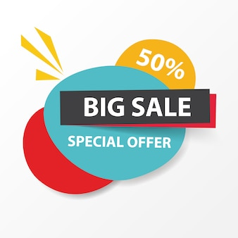 Colorful shopping sale banner