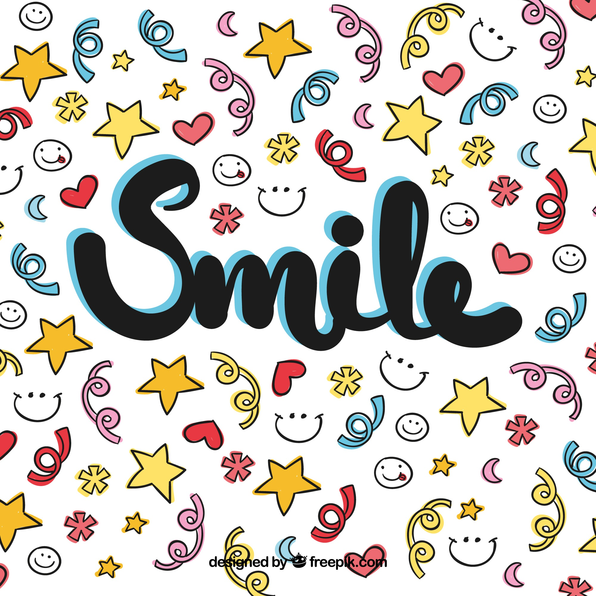 Colorful smile background