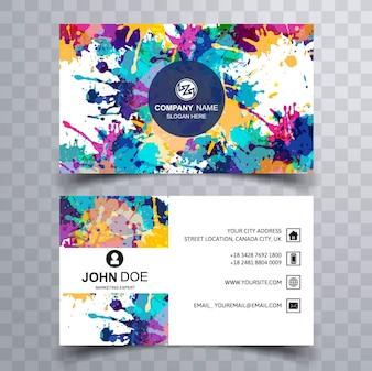 Colorful splash business card