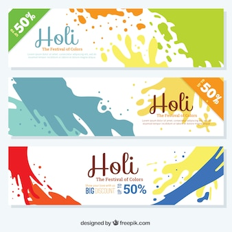 Colorful splashes discount Holi coupons