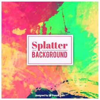 Colorful splatter background