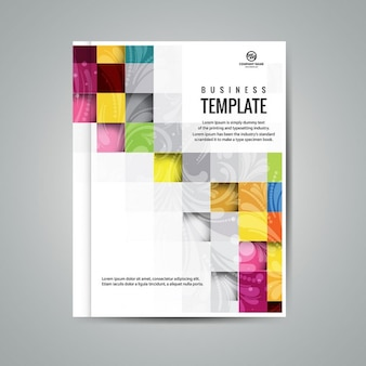 Colorful squares business booklet