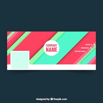 Colorful striped facebook cover