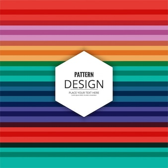 Colorful striped pattern in flat design