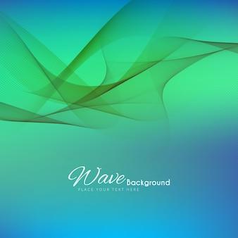 Красочный стильный фон волны