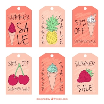 Colorful summer sale cards