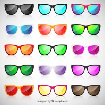Colorful sunglasses collection