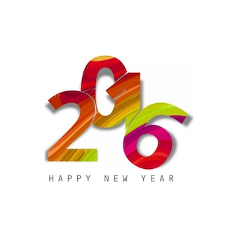 Colorful text of new year 2016