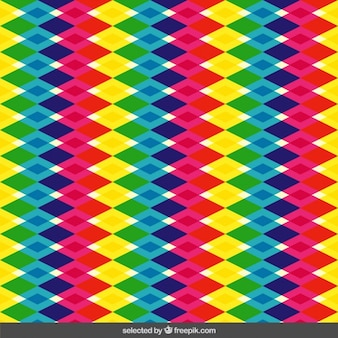 Colorful translucent rhombus pattern