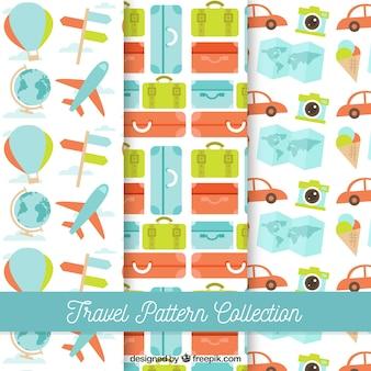 カラフルな旅行パターンのコレクション