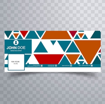 Colorful triangular facebook banner