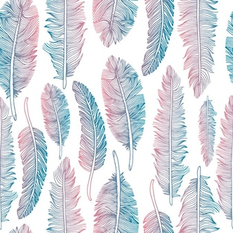 Colorful tribal feather pattern