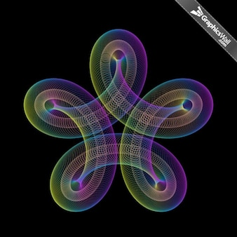 Colorful twisted circles abstract vector