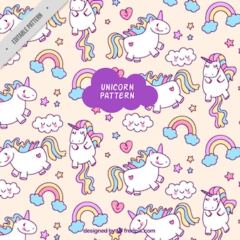 Colorful unicorn pattern