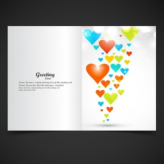 Colorful valentines greeting card