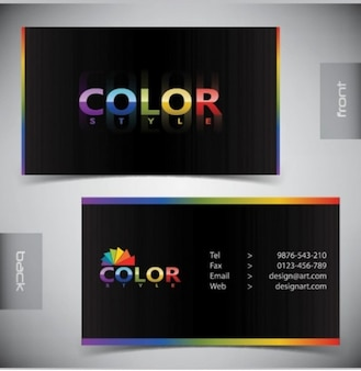 colorful vector template for modern business card
