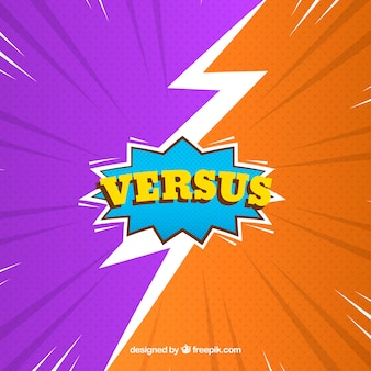 Colorful versus background with modern style