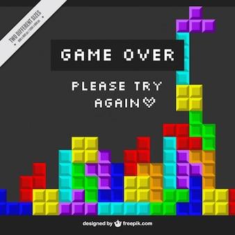 Colorful video game scene