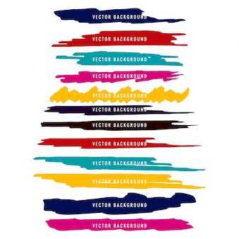 Colorful watercolor design set