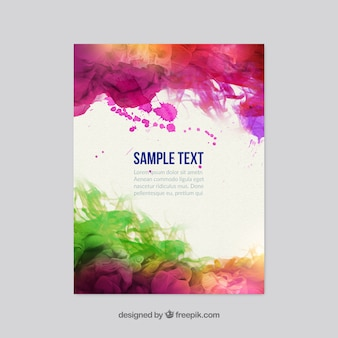 Colorful watercolor flyer