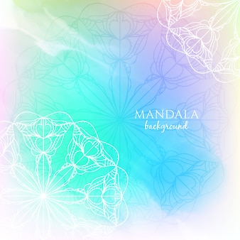 Colorful watercolor mandala design background