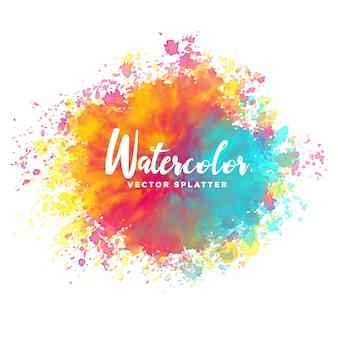 Colorful watercolor splash background