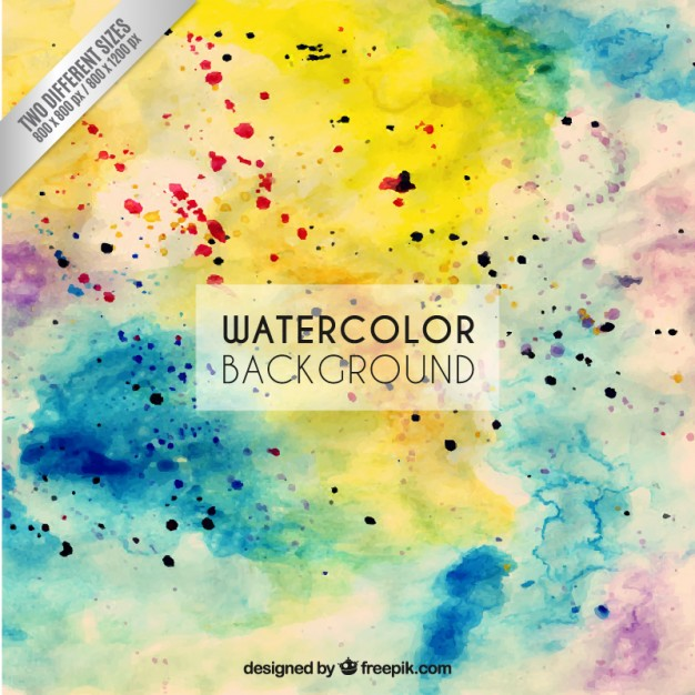 Colorful watercolor splashes background