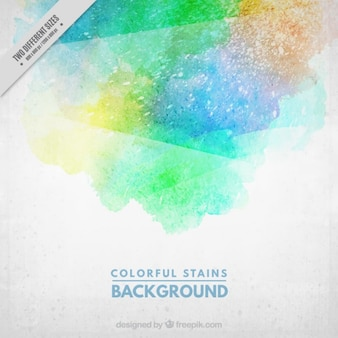 Colorful watercolor stains background