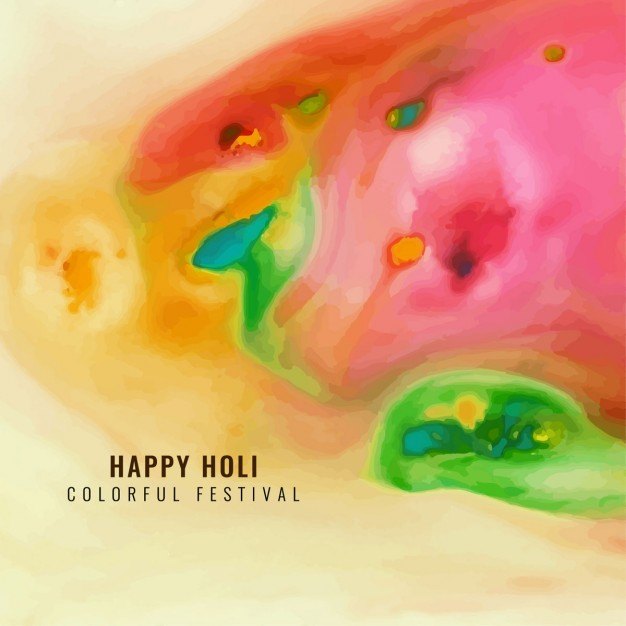 Colorful watercolor texture, holi festival