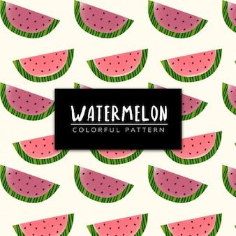 Colorful watermelon pattern design