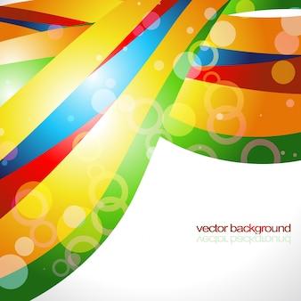 Colorful wave background design