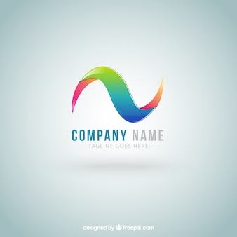 Colorful wave logo