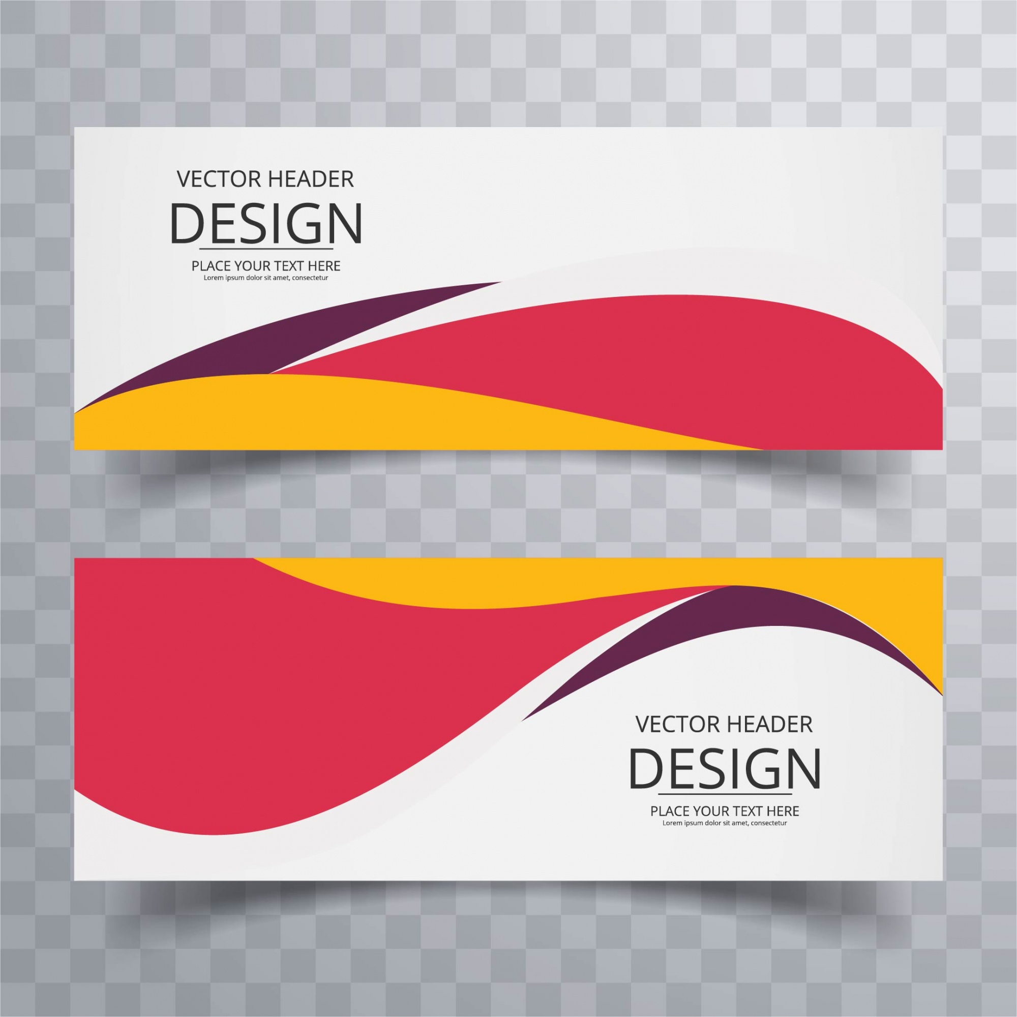 Colorful wavy banners
