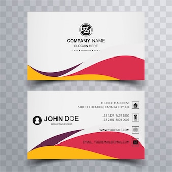 Colorful wavy business card