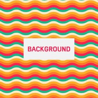 Colorful wavy retro background
