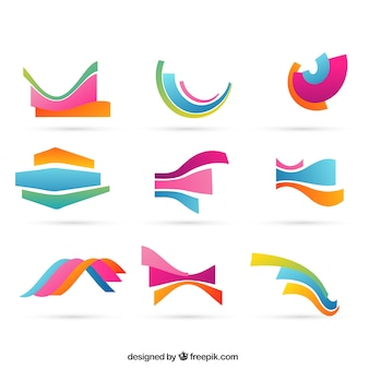 Colorful wavy shapes