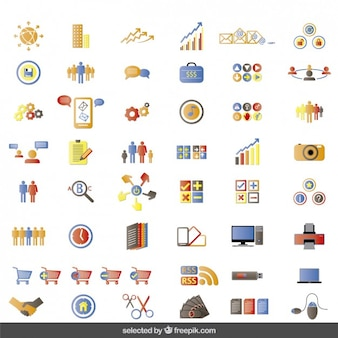 Colorful website icons collection