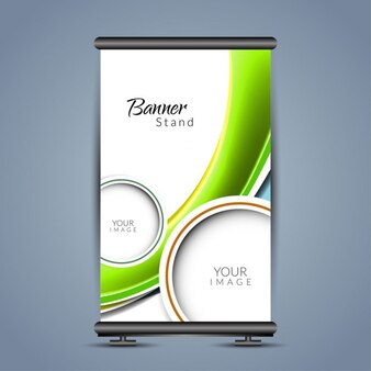 Colorful with waves roll up template