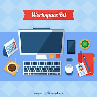 Colorful workspace with modern style