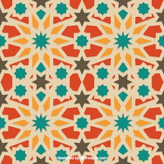 Colors arabian geometric pattern