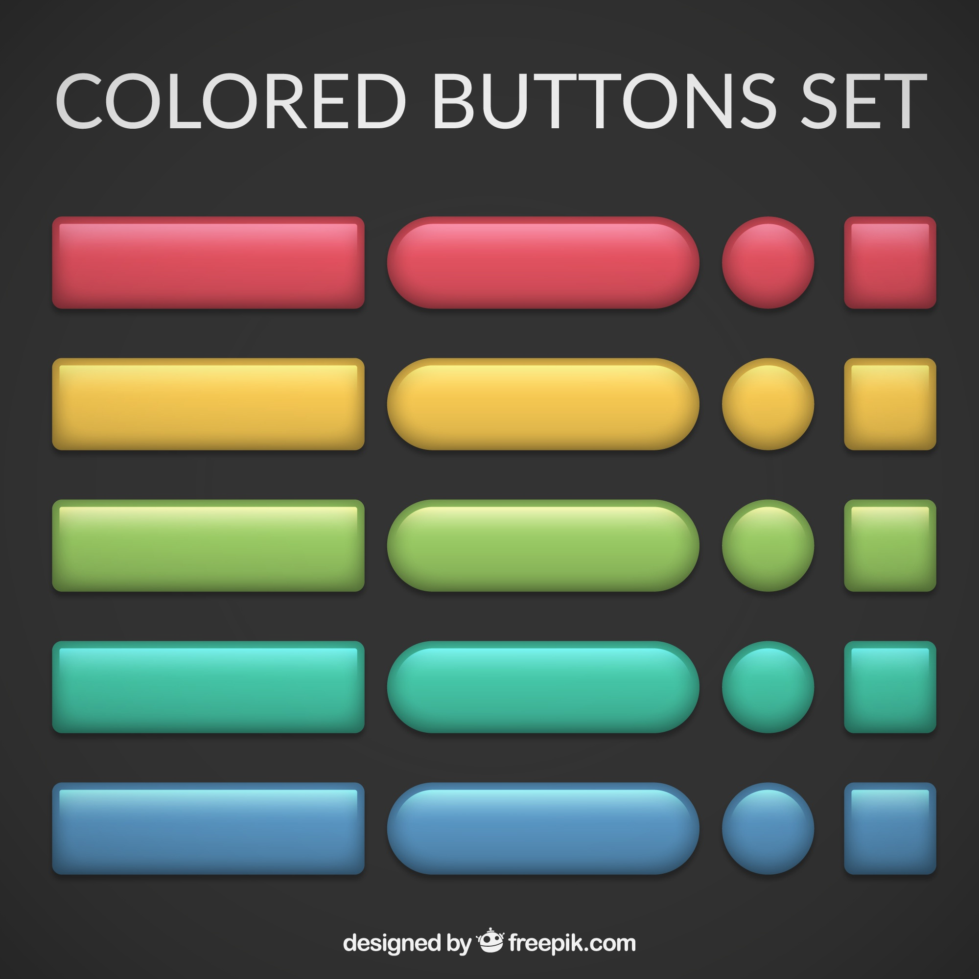 Buttons vectors 2 600 free files in ai eps format for Design a button template free