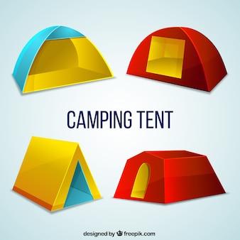 Colors camping tent set