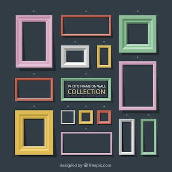 Colors decorative photo frames in flat design