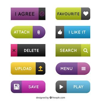Colors flat web buttons