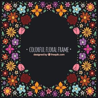 Colors floral frame